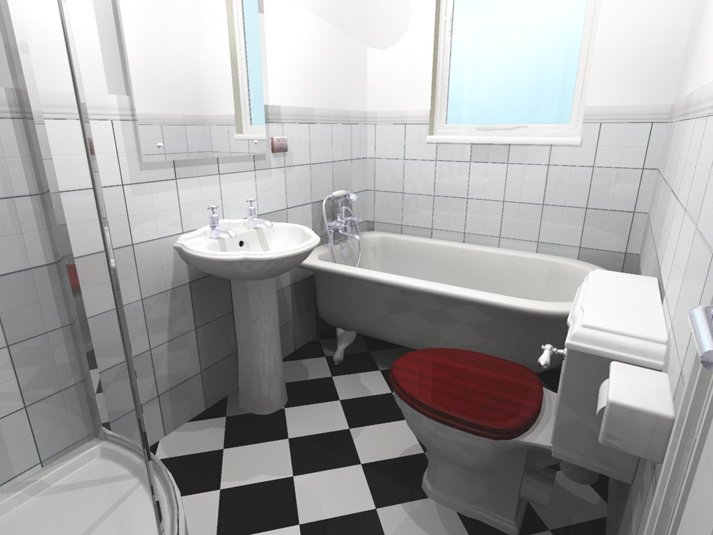 Black n white bathrooms for Bathrooms n ireland
