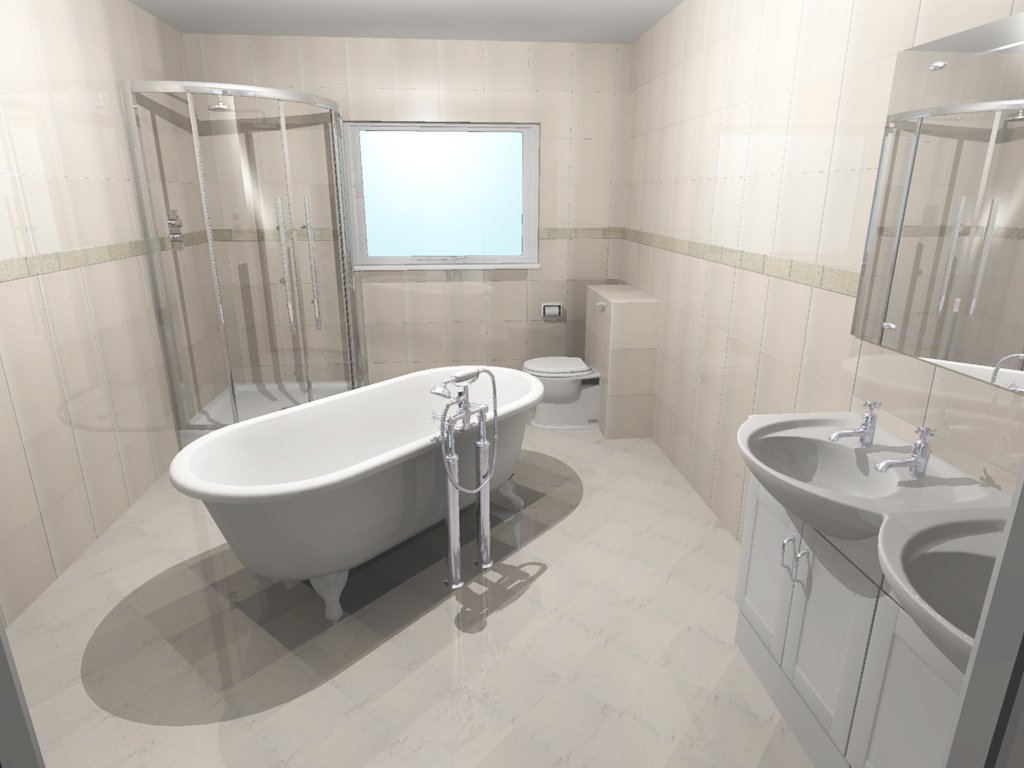 Free standing bath centre bathrooms for Bathroom ideas 3d