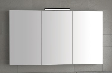 3 door mirror unit with light