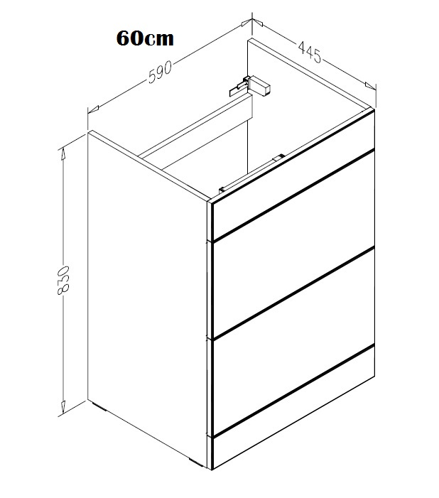 60cm-2 drawer-floor
