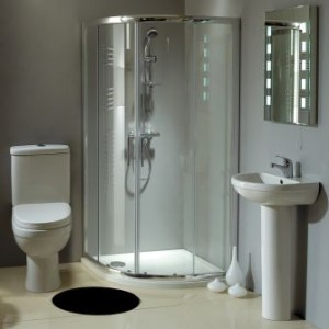 Ensuite design ideas ensuite inspiration ensuite in small space - Small bathroom suites for small spaces collection ...