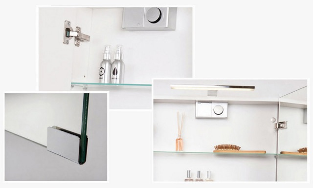 Bathroom mirror cabinets with lights bathrooms for Bathroom cabinets ireland