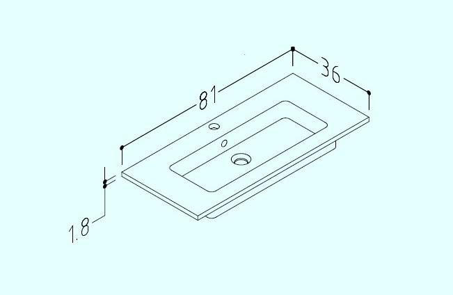 seville 80cm basin